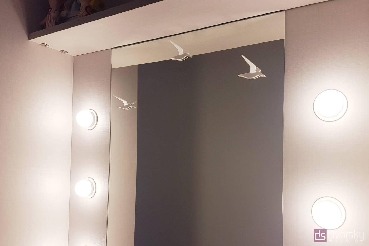 Спальни Спальня с голубым изголовьем - Фото № 5