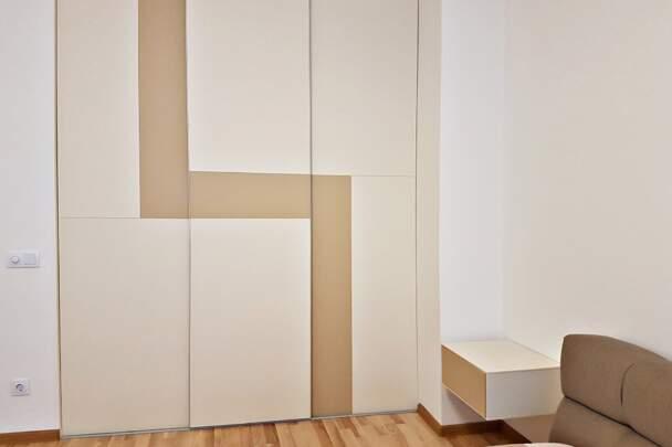 Геометрична шафа для спальні