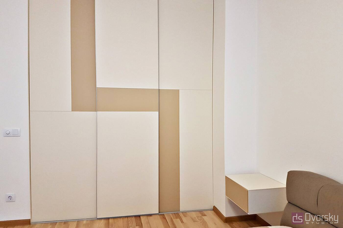 Спальни Геометрический шкаф для спальни - Фото № 1