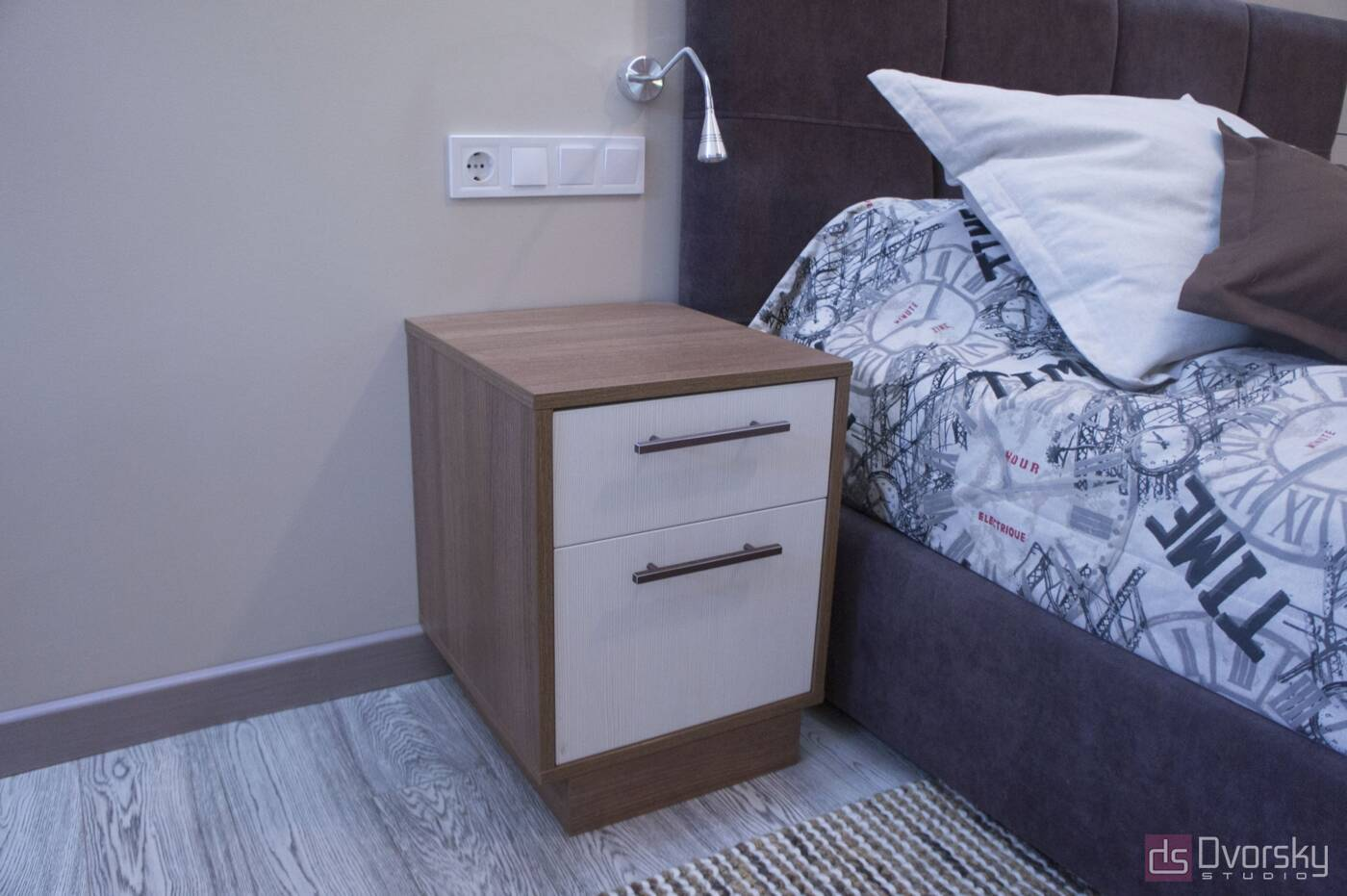 Спальни Спальня с узкой кроватью - Фото № 3
