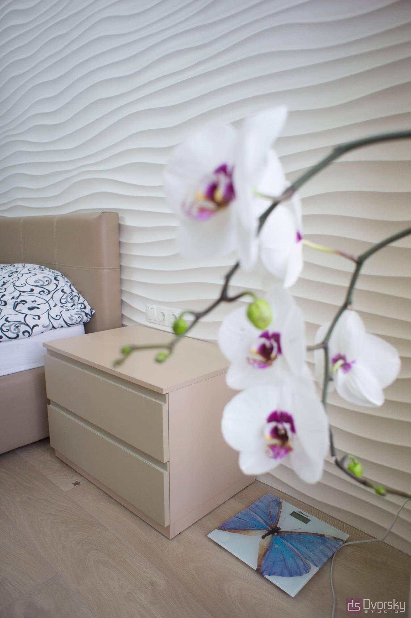 Спальни Светлая и нежная спальня - Фото № 3
