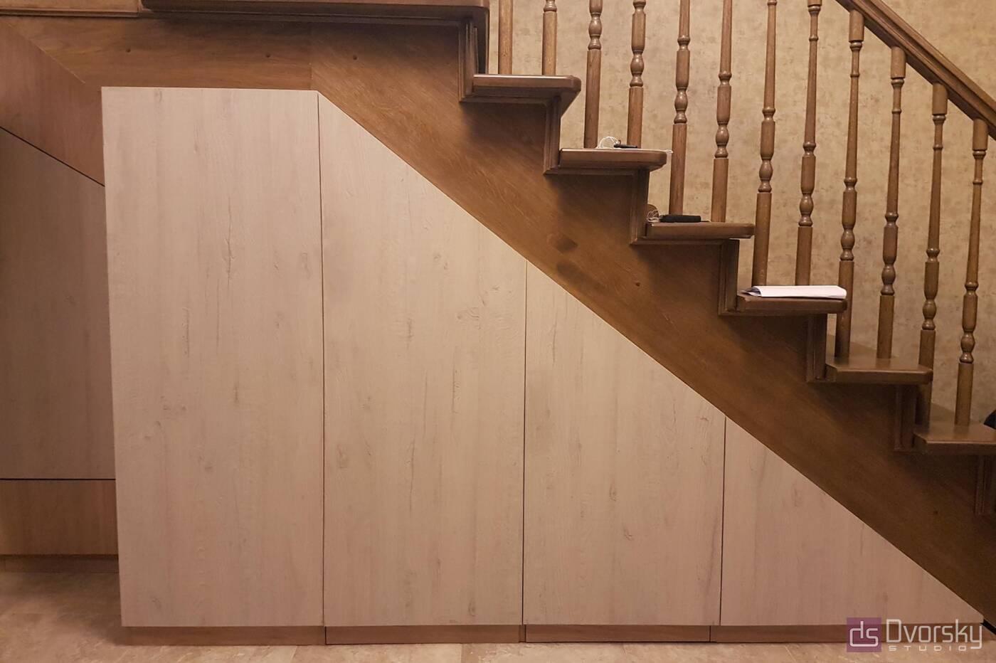 Мебельные стенки Мебельная стенка под лестницей - Фото № 4