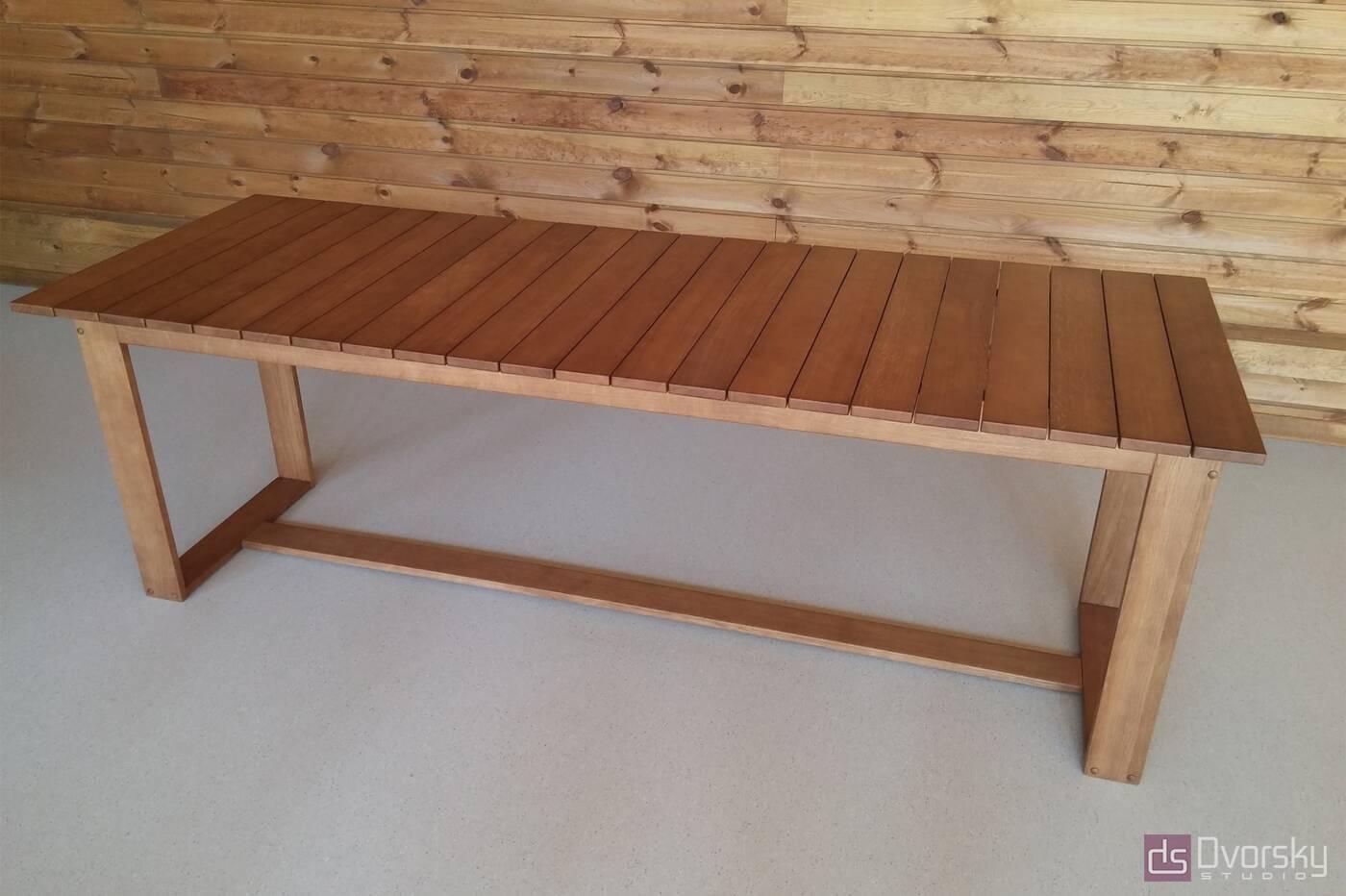 Разное Обеденный стол из натурального дерева - Фото № 1