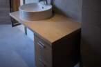 Меблі для ванної Тумба в фактурі дерева для ванної - Фото № 1