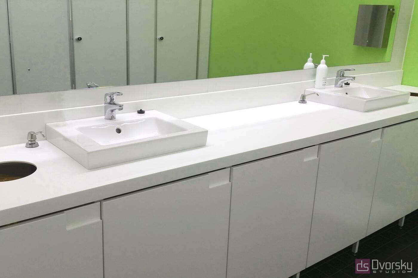 Меблі для ванної Стільниця врівень з фасадами для ванної - Фото № 2