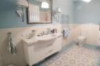 Меблі для ванної Бежево-блакитна ванна кімната - Фото № 1