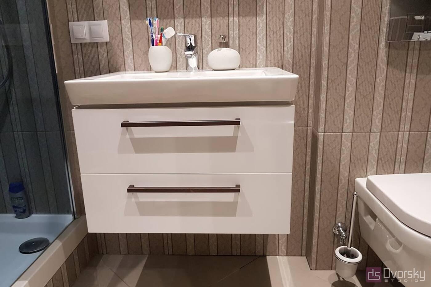 Меблі для ванної Тумба з білими фасадами для ванної - Фото № 1