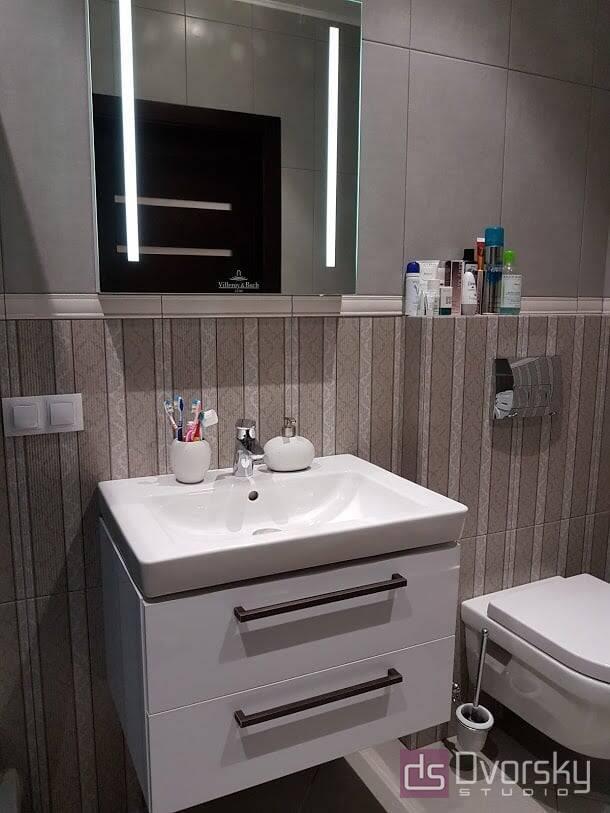 Меблі для ванної Тумба з білими фасадами для ванної - Фото № 3
