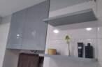 Меблі для ванної Глянцева сіра тумба у ванну - Фото № 3