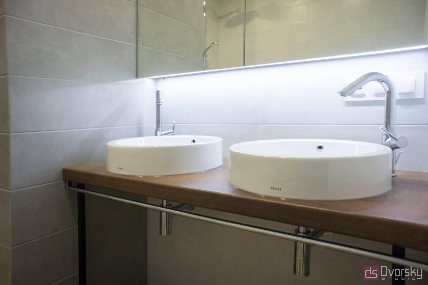 Мебель для ванной Ванная с двумя раковинами - Фото № 2